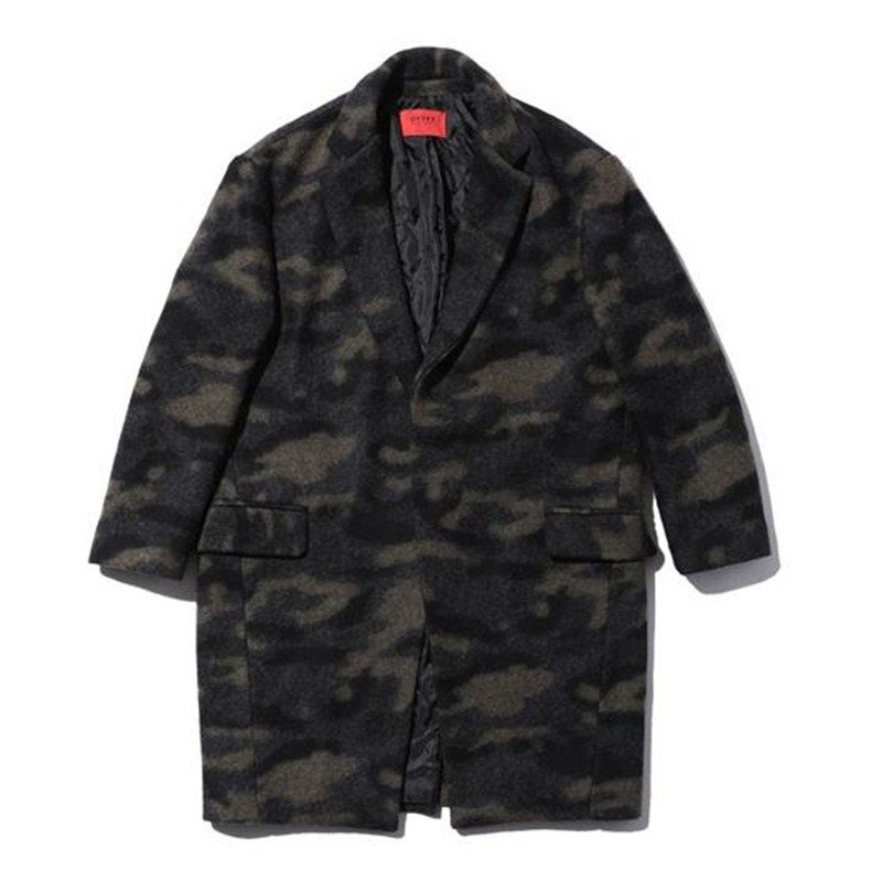 [OVERR] TOME.4 WOOL CAMO LONG COAT