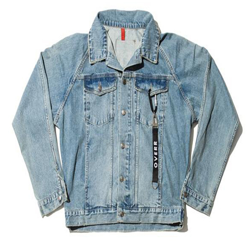 [OVERR] 17S/S BACKPRINT WASHING DENIM JACKET