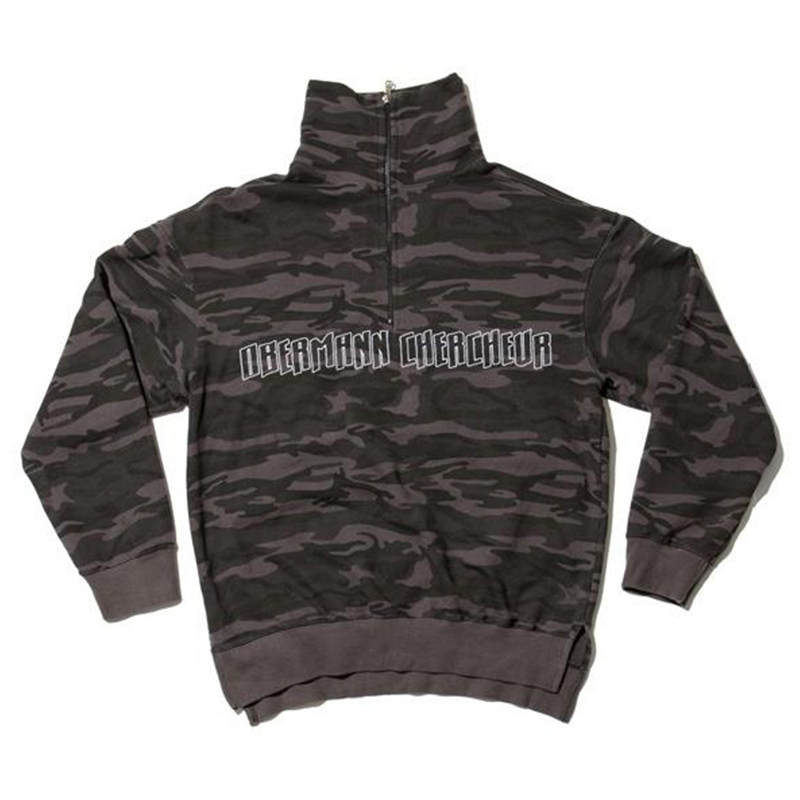 [OVERR] 17S/S HIGHNECK ZIPPER CAMO LONG SLEEVE