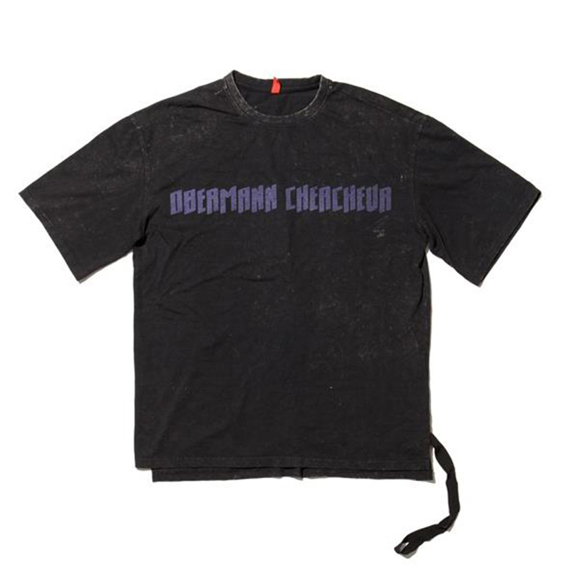 [OVERR] 17S/S WASHING PURPLE WORD T-SHIRTS