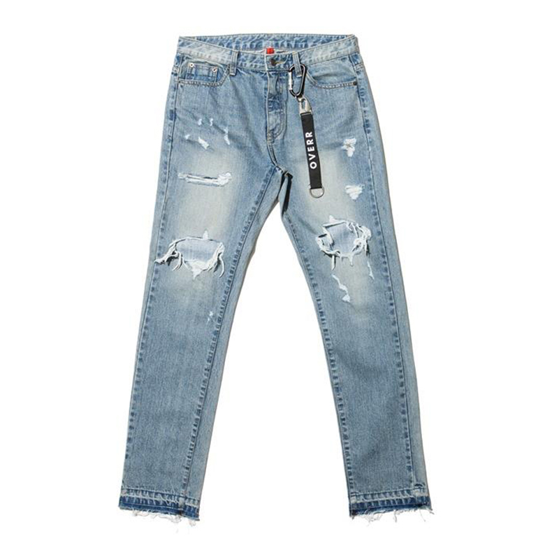 [OVERR] 17S/S WASHING DAMAGE DENIM PANTS