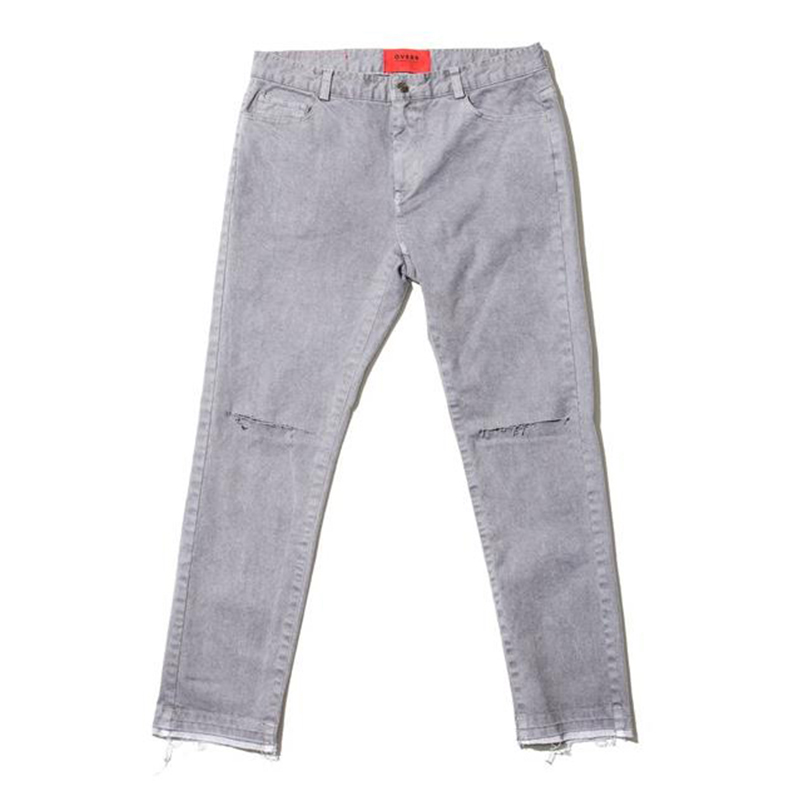 [OVERR] 17S/S PIGMENT GRAY DAMAGE PANTS