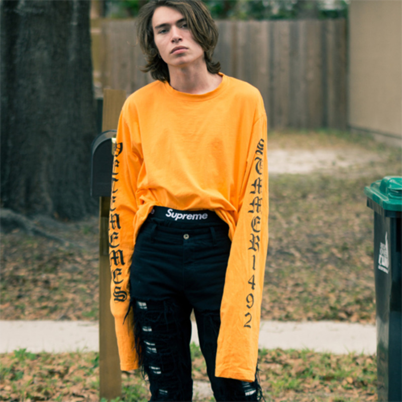 [$ SHOP SALE] [VETEMEMES] ORANGE ELONGATED LONG SLEEVES (ORANGE)