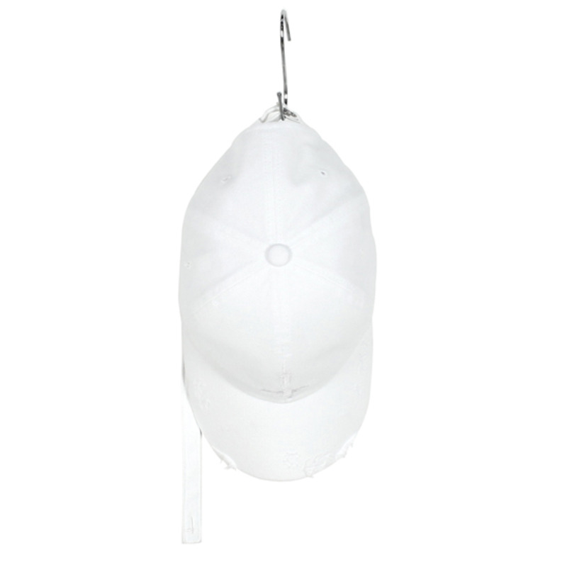 [SAINT SHOW] GARMENTS HAND MADE DESTROYED LONG STRAP CAP - WHITE