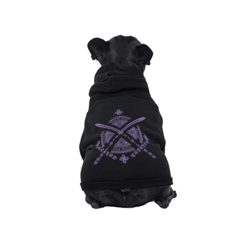 [SAINT SHOW] DOGGY ESSENTIAL PULLOVER HOODIE - OFF BLACK/INDIGO