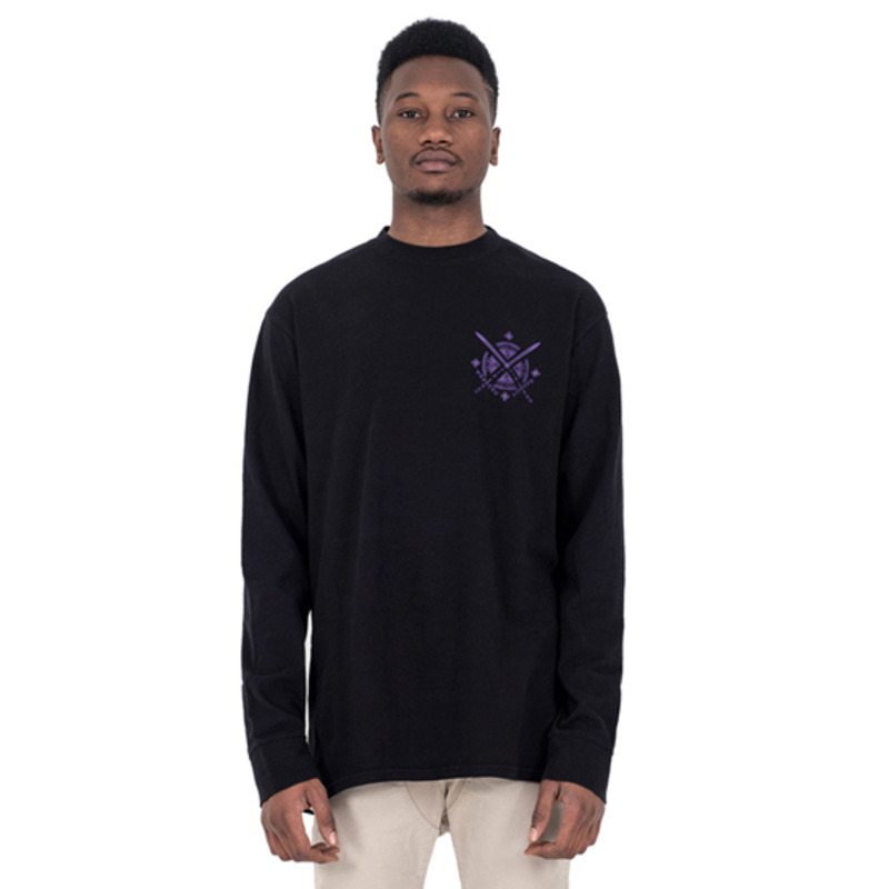 [SAINT SHOW] LONG SLEEVE T-SHIRT - OFF BLACK/INDIGO