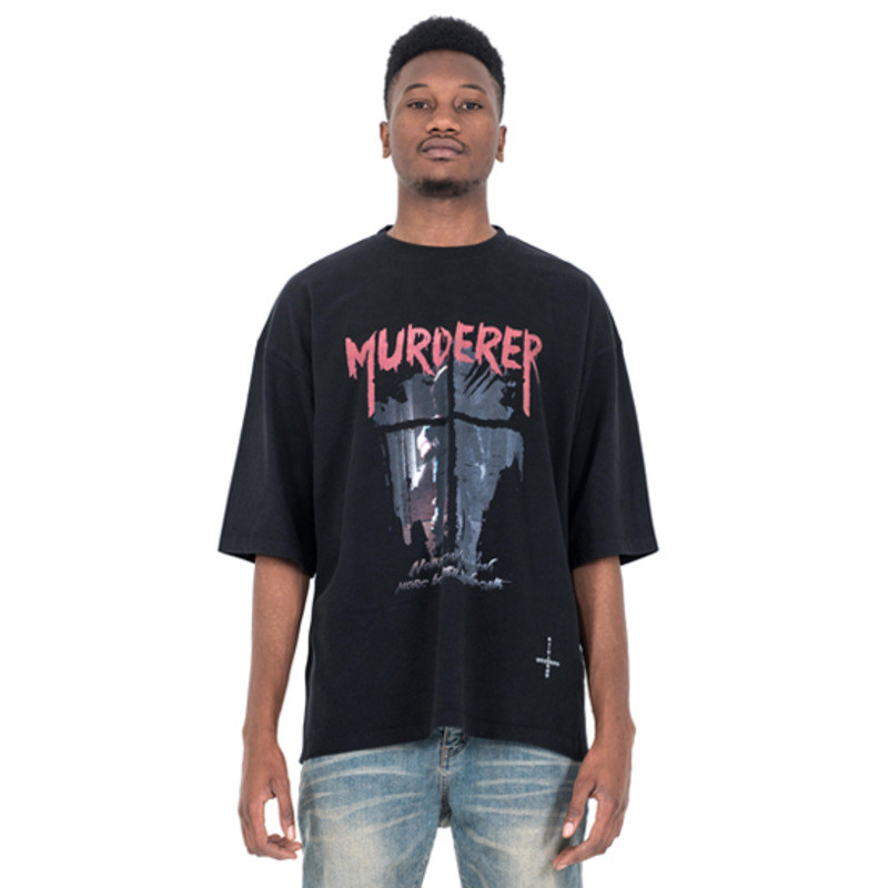 [SAINT SHOW] MUDERER 3/4 SLEEVE T-SHIRT - OFF BLACK