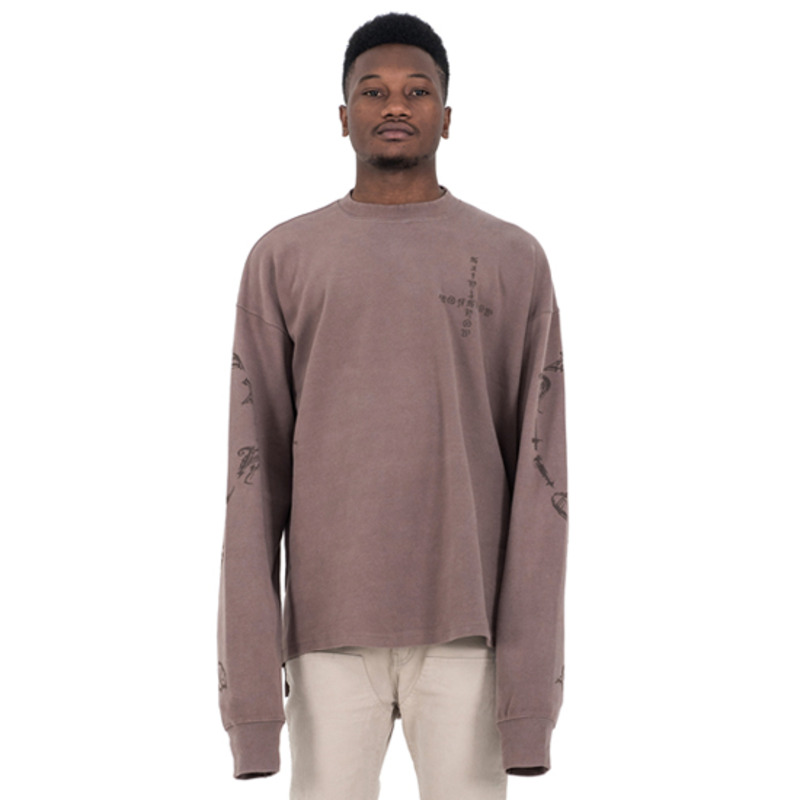 [SAINT SHOW] OVERSIZED LONG SLEEVE T-SHIRT - COCOA BROWN