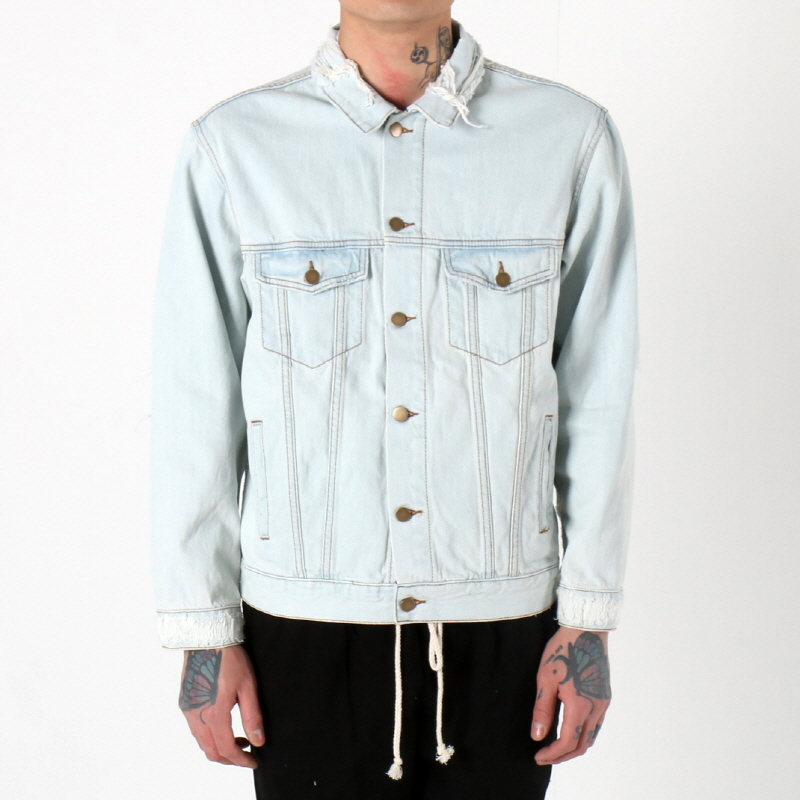 [쿠드그라스 연말 FINAL SALE] [EPTM] DISTRESSED DENIM JACKET (BLEACHED)