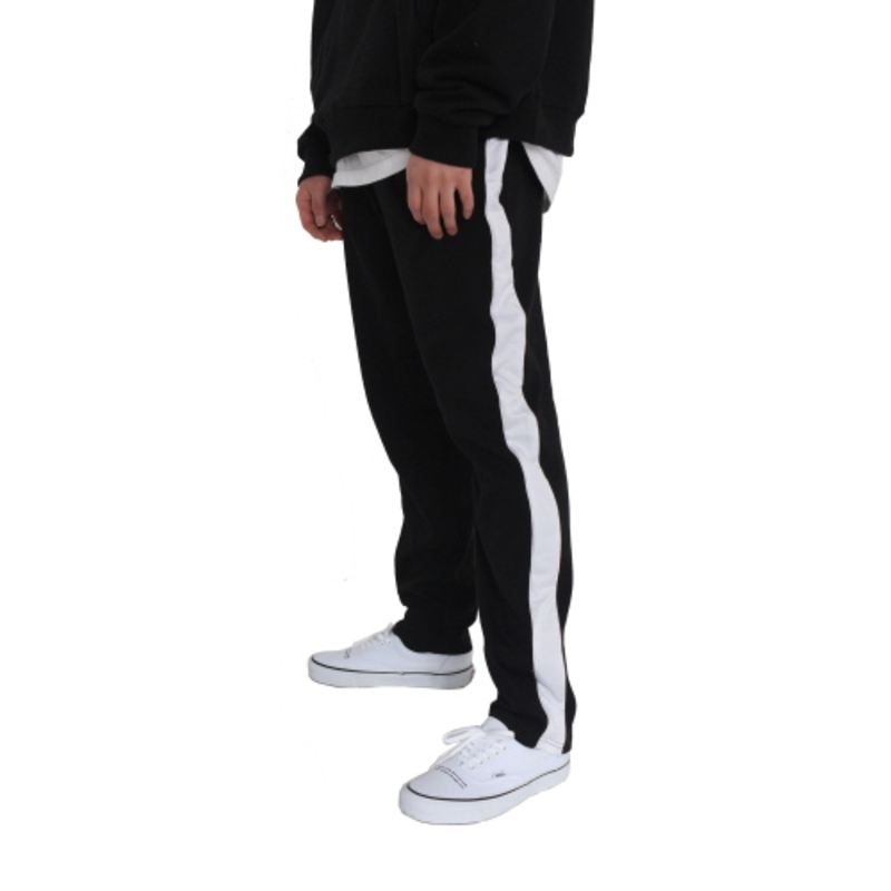 [FADE6] LINE SWEAT PANTS WHITE