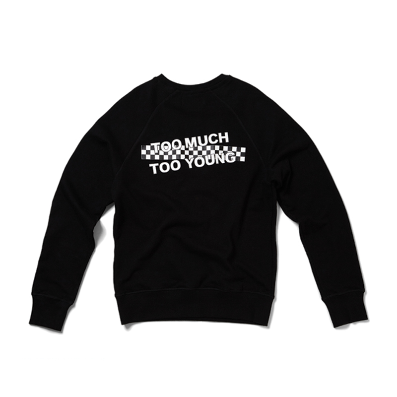 [THANKS FATHER] TOO MUCH YOUNG SWEATSHIRT (BLACK)