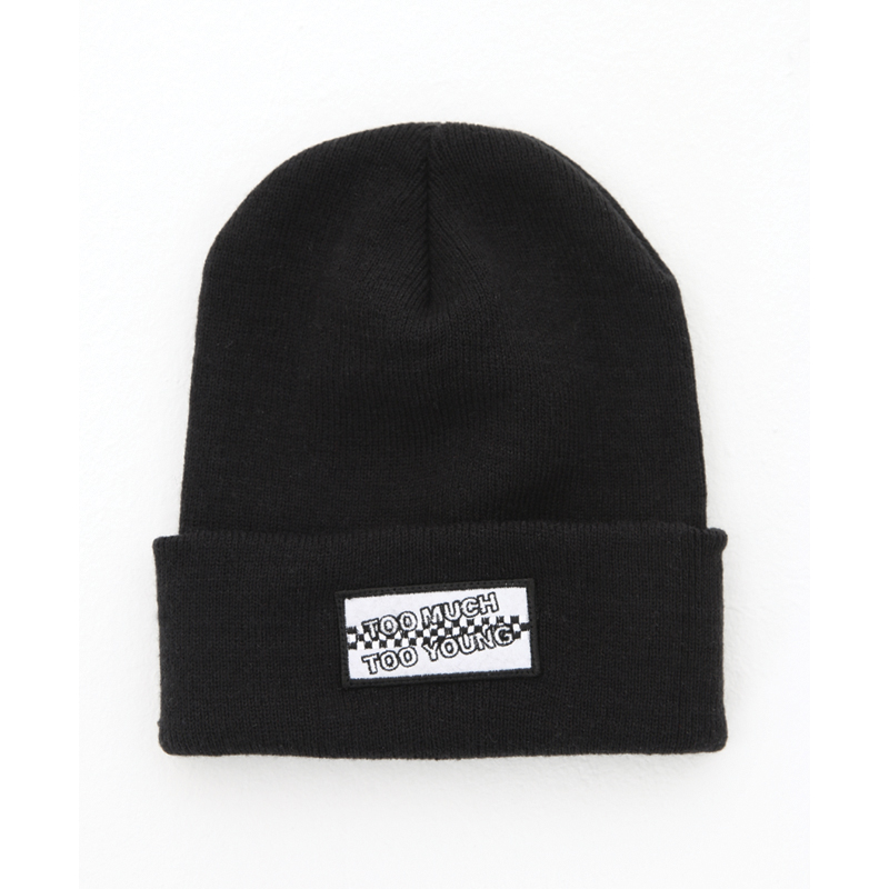 [THANKS FATHER] TOO MUCH TOO MUCH YOUNG BEANIE (BLACK)