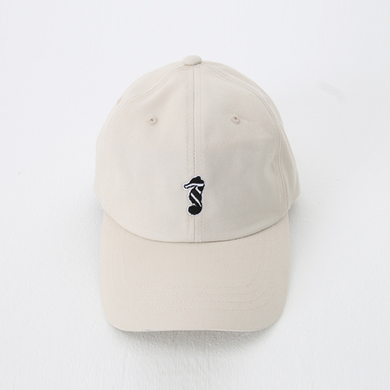 [THANKS FATHER] 2 TONE SEAHORSE LOGO BASEBALL CAP (BEIGE)