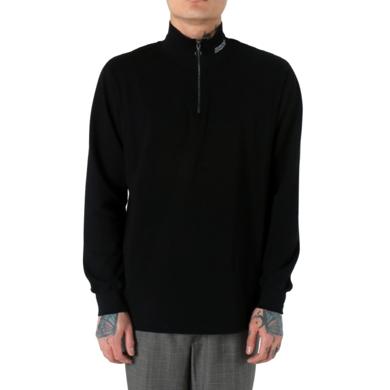 [$ SHOP SALE] [NEIGE] ZIPPED TURTLENECK (BLACK)