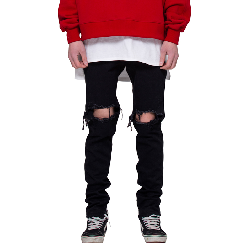 [RCNP] DESTROYED BLACK DENIM JEAN