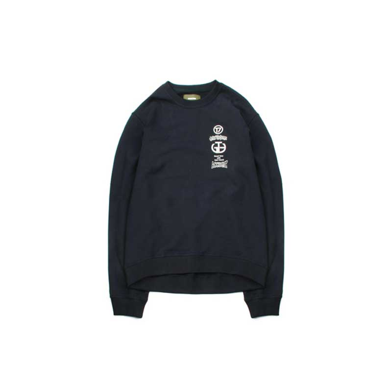 [BEHIND THE SCENES] ACCIDENT CREWNECK NAVY