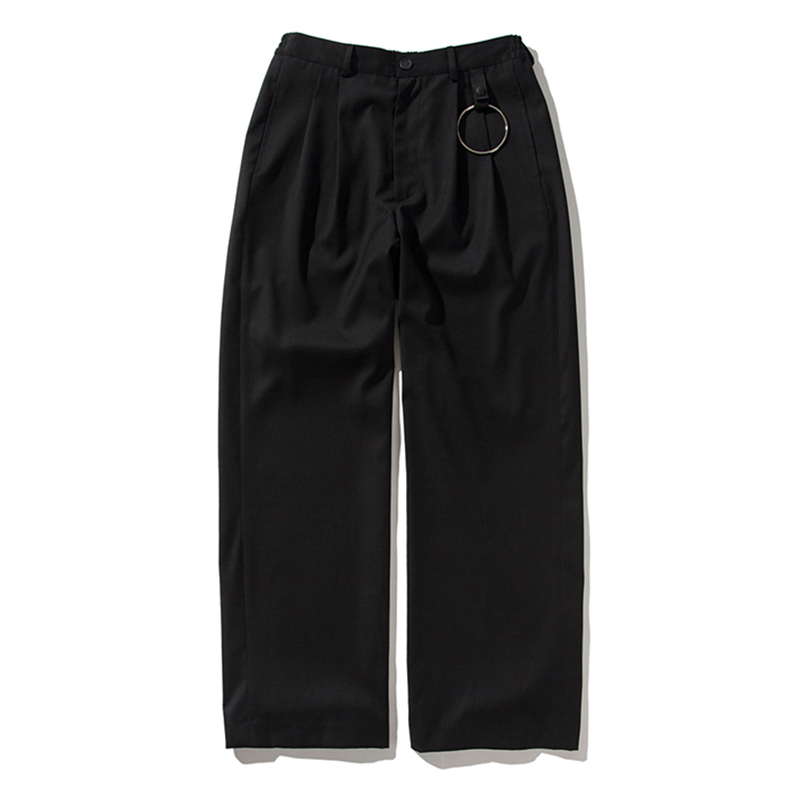 [ANTIMATTER] RING WIDE PANTS (BLACK)