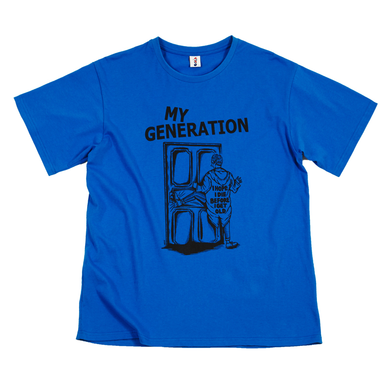 [THANKS FATHER] MY GENERATION T-SHIRT (BLUE)