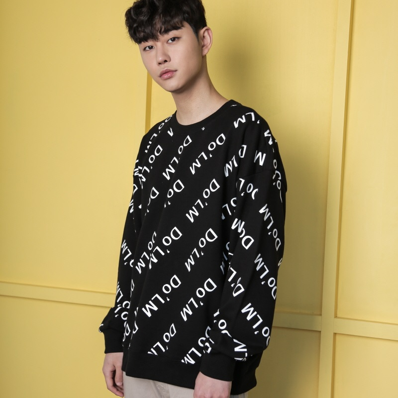 [DOLM] DO'LM LOGO CREWNECK (BLACK)