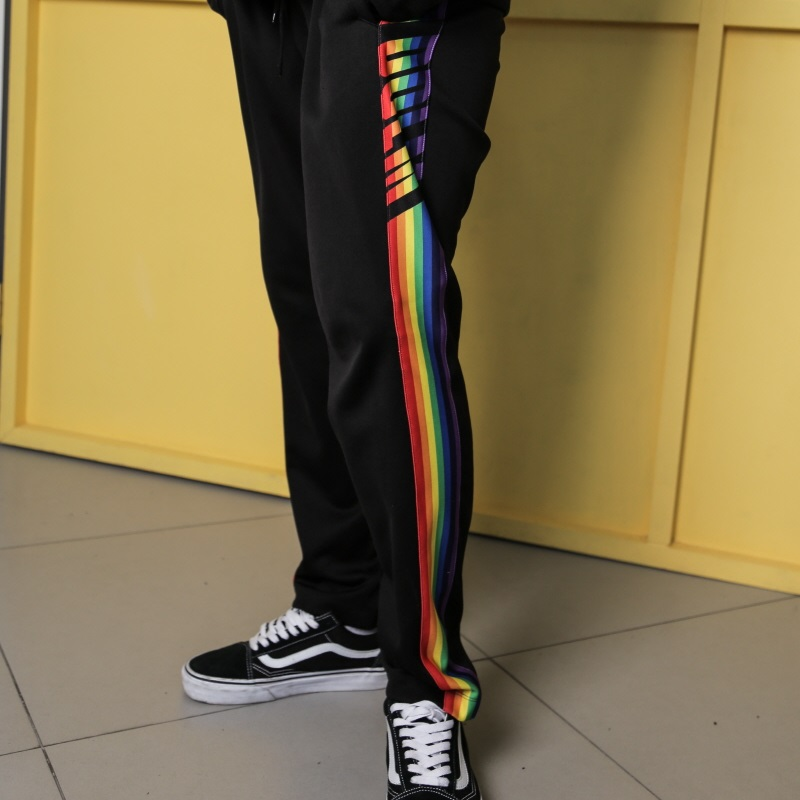 [DOLM] RAINBOW TRAINING PANTS (BLACK)
