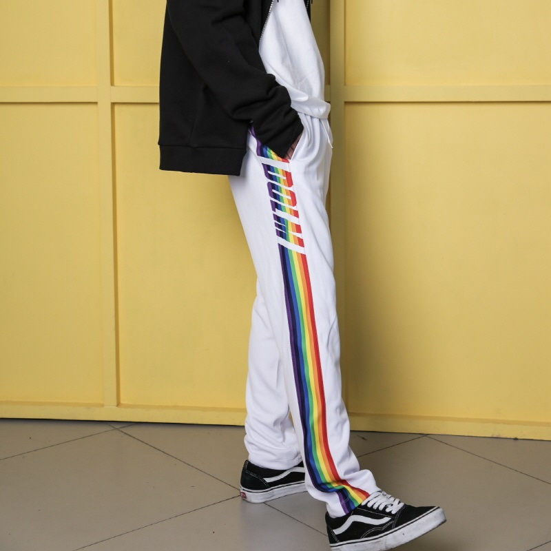 [DOLM] RAINBOW TRAINING PANTS (WHITE)