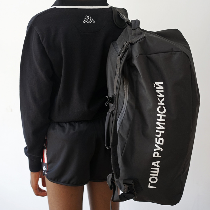 [GOSHA RUBCHINSKIY] KAPPA PVC BACKPACK (BLACK)