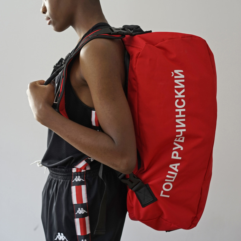 [GOSHA RUBCHINSKIY] KAPPA PVC BACKPACK (RED)