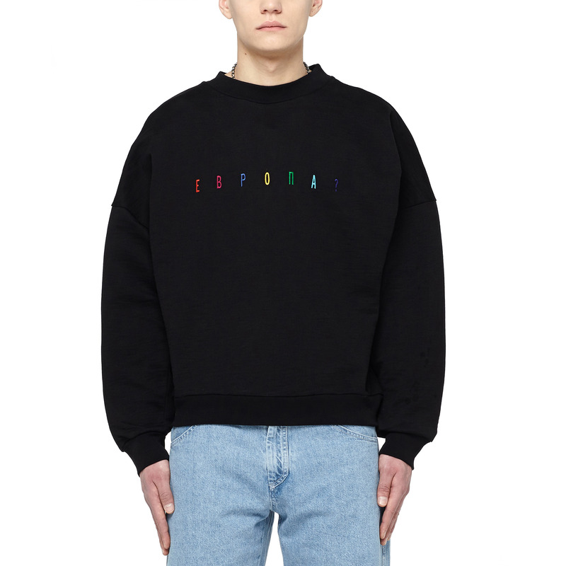 [쿠드그라스 연말 FINAL SALE] [GOSHA RUBCHINSKIY] COTTON SWEATSHIRT (BLACK)