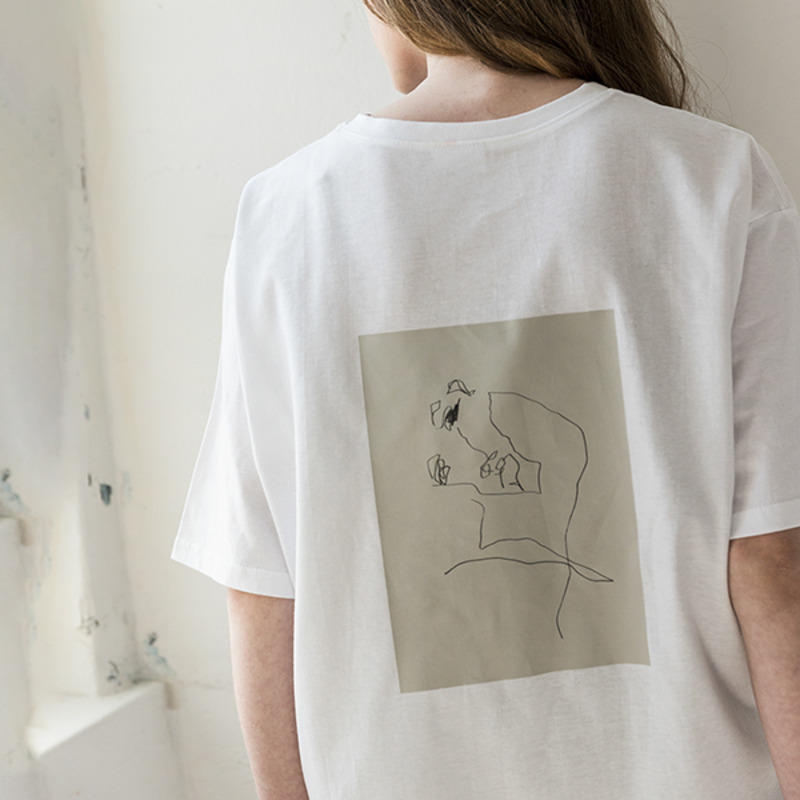 [WHOLOVESART] UNISEX WLA x SINK.IN THOUGHTS T-SHIRTS (WHITE)