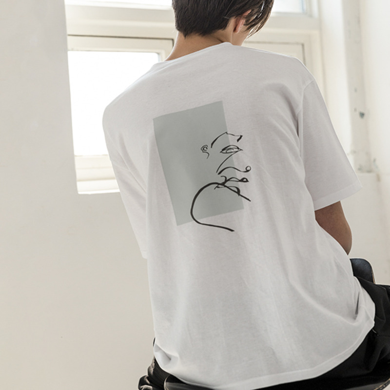 [WHOLOVESART] UNISEX WLA x SINK.IN UNTITLED T-SHIRTS (WHITE)