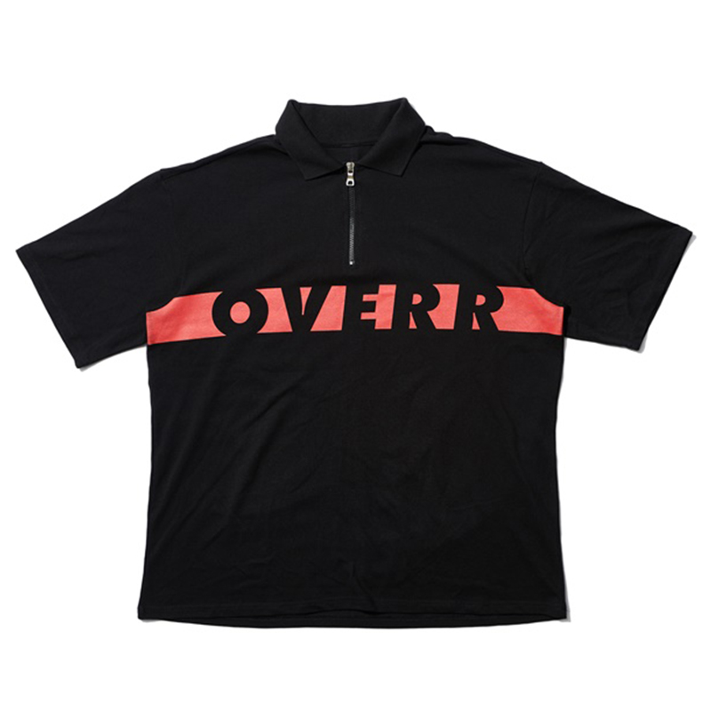 [OVERR] 17SU BASIC BLACK ZIPUP SHIRTS