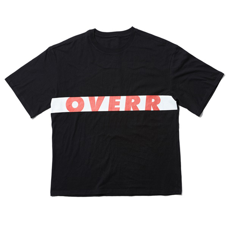 [OVERR] 17SU WORD SQUARE BLACK TEE