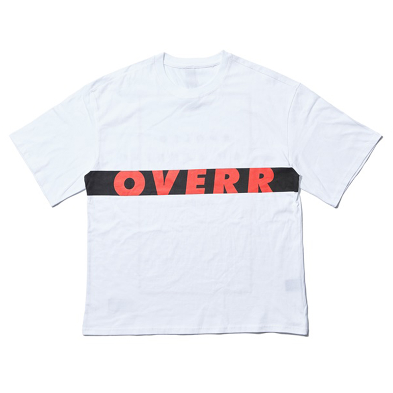 [OVERR] 17SU WORD SQUARE WHITE TEE