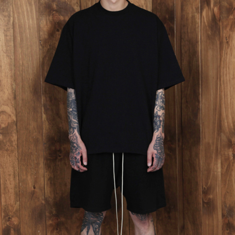[BURJ SURTR] BASIC BOX T-SHIRT BLACK