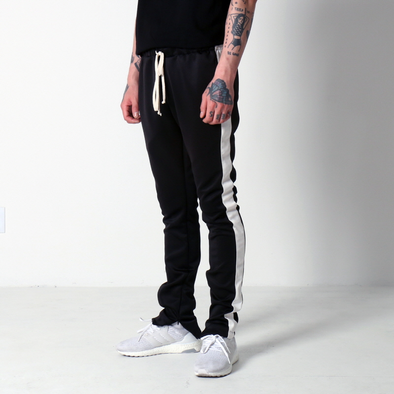 [$ SHOP SALE] [EPTM] TECHNO TRACK PANTS (BLACK/WHITE)