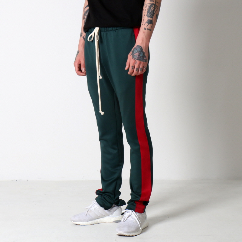 [$ SHOP SALE] [EPTM] TECHNO TRACK PANTS (GREEN/RED)