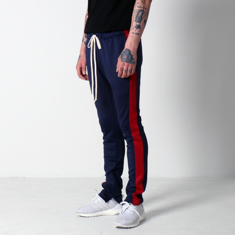 [EPTM] TECHNO TRACK PANTS (NAVY/RED)