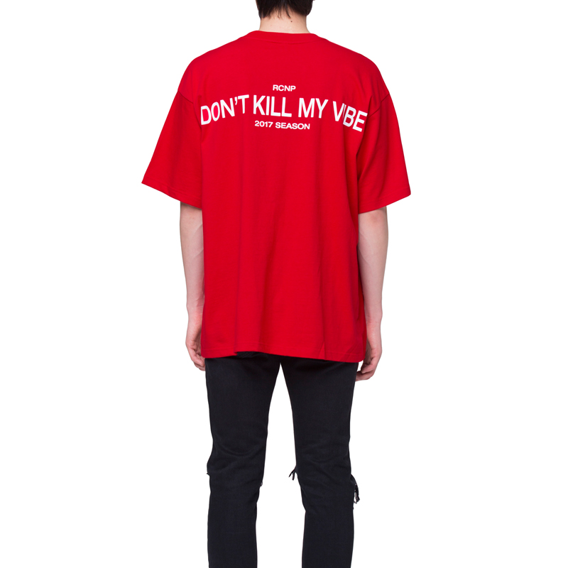 [RCNP] BACK PRINTED T-SHIRT (RED)