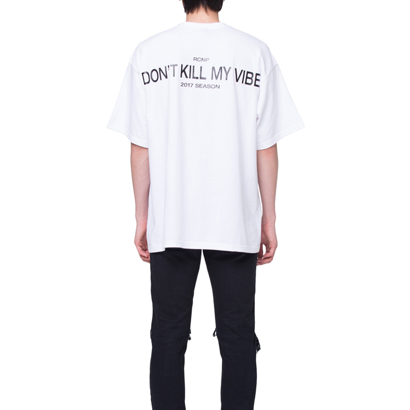 [RCNP] BACK PRINTED T-SHIRT (WHITE)