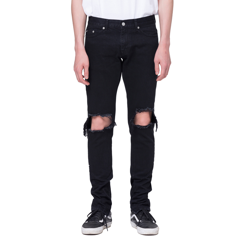 [RCNP] DESTROYED BLACK DENIM JEANS