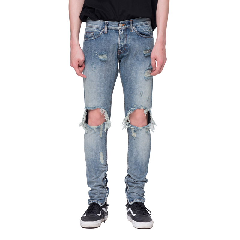 [RCNP] DESTROYED SELVAGE DENIM JEANS
