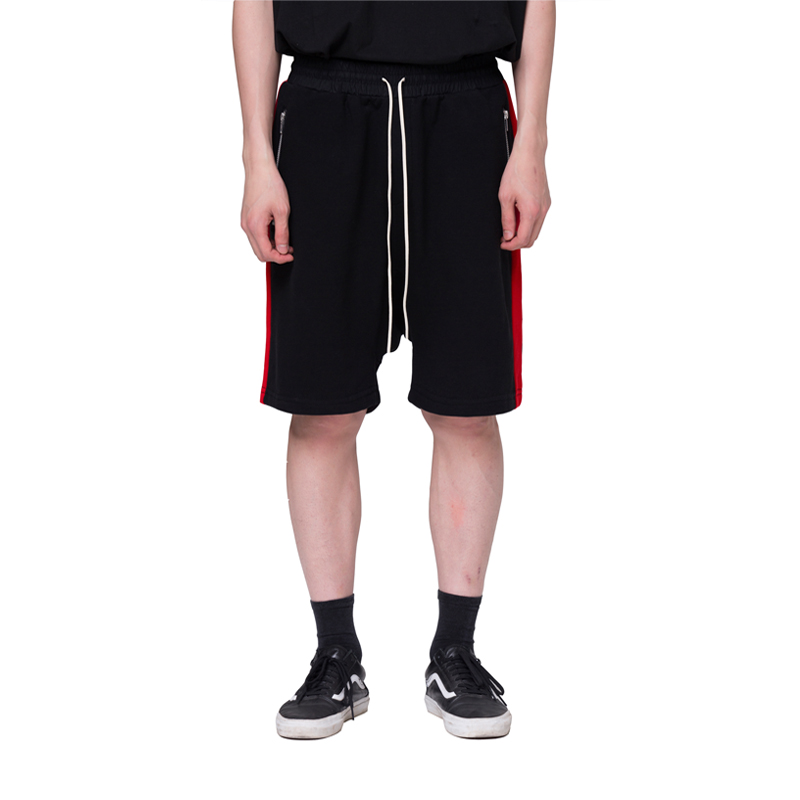 [RCNP] SIDE LINE SHORTS (BLACK RED)