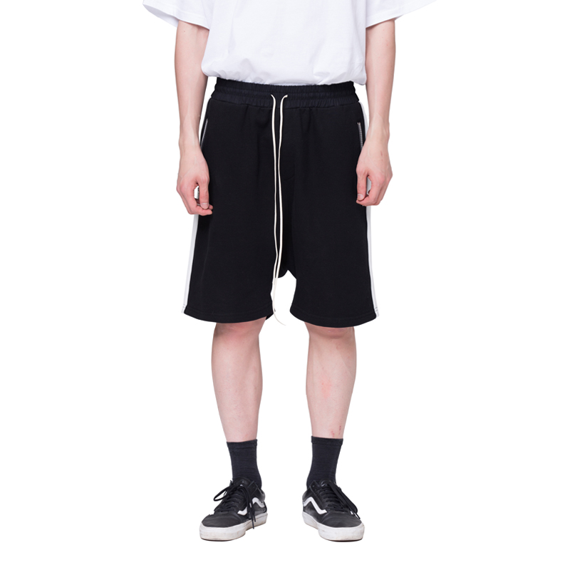 [RCNP] SIDE LINE SHORTS (BLACK WHITE)