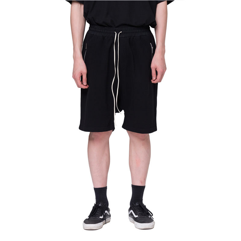[RCNP] SIDE LINE SHORTS (BLACK)
