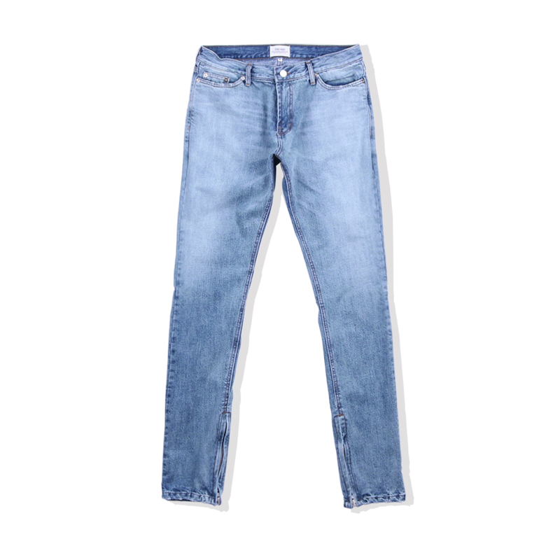 [END/AND] ESSENTIAL END DENIM ZIP (MEDIUM BLUE)