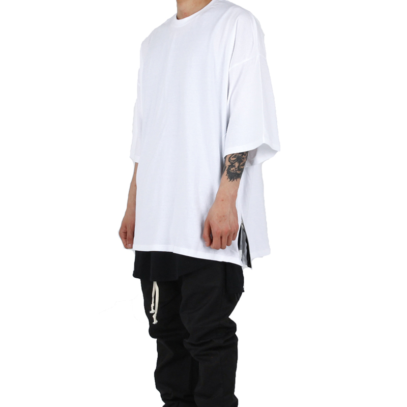 [XSACKY] SIDE ZIPPER T-SHIRT WHITE