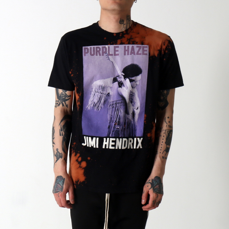 [$ SHOP SALE] [VINTAGE WEAR LA] JIMI HENDRIX  PURPLE HAZE GUITAR TEE