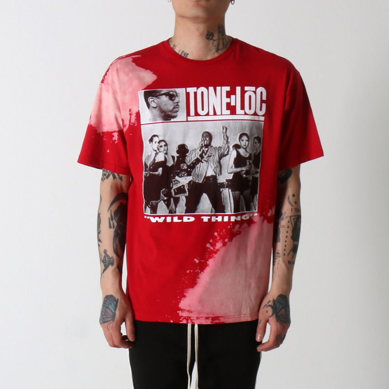 [$ SHOP SALE] [VINTAGE WEAR LA] TONE LOC 'WILD THANG' LICENSED T-SHIRT (RED)