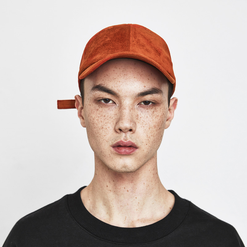 [D.PRIQUE] SUEDE BALL CAP / FLAME ORANGE
