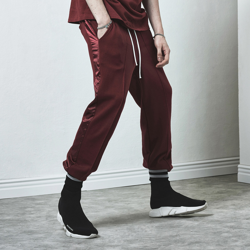 [D.PRIQUE] RACK SWEAT PANTS / OXBLOOD
